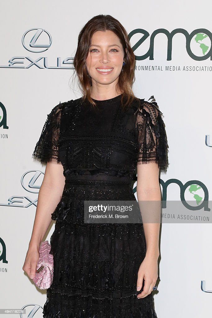 Actress Jessica Biel attends the 25th annual EMA Awards presented by Toyota and Lexus and hosted by the Environmental Media Association at Warner Bros. Studios on October 24, 2015 in Burbank, California.