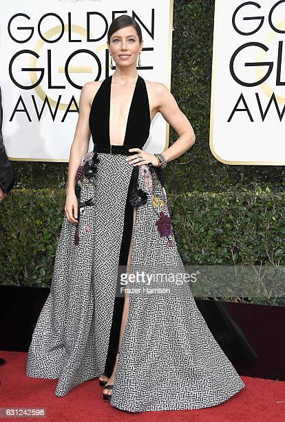 Actress Jessica Biel attends the 74th Annual Golden Globe Awards at The Beverly Hilton Hotel on January 8 2017 in Beverly Hills California