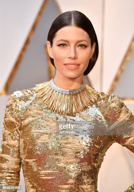 Actress Jessica Biel attends the 89th Annual Academy Awards at Hollywood Highland Center on February 26 2017 in Hollywood California