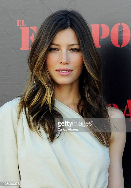 Actress Jessica Biel attends 'The ATeam' photocall at ME Hotel on July 26 2010 in Madrid Spain