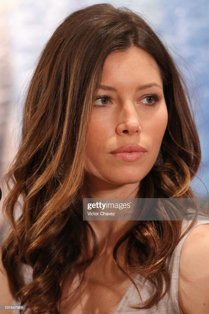 Actress Jessica Biel attends 'The ATeam' press conference at the Four Seasons Hotel on June 1 2010 in Mexico City Mexico