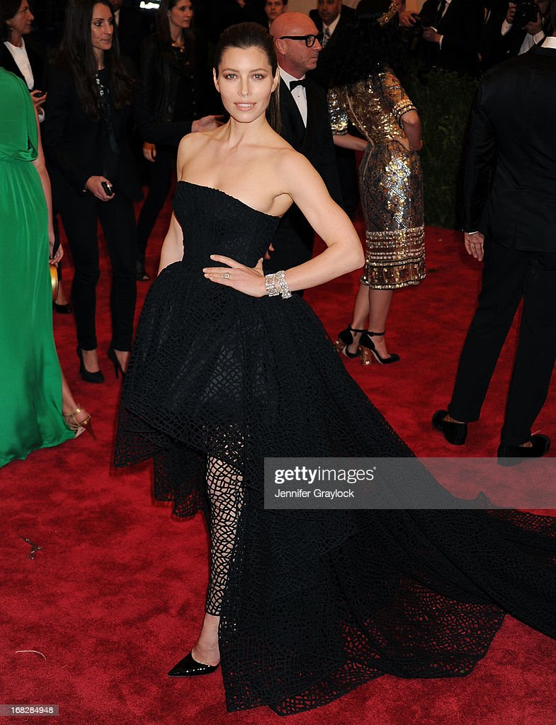 Actress Jessica Biel attends the Costume Institute Gala for the 'PUNK: Chaos to Couture' exhibition at the Metropolitan Museum of Art on May 6, 2013 in New York City.