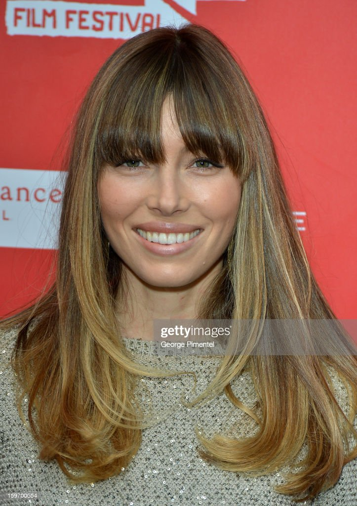 Actress <a gi-track='captionPersonalityLinkClicked' href=/galleries/search?phrase=Jessica+Biel&family=editorial&specificpeople=203011 ng-click='$event.stopPropagation()'>Jessica Biel</a> attends the 'Emanuel and The Truth About Fishes' Premiere during the 2013 Sundance Film Festival at Library Center Theater on January 18, 2013 in Park City, Utah.