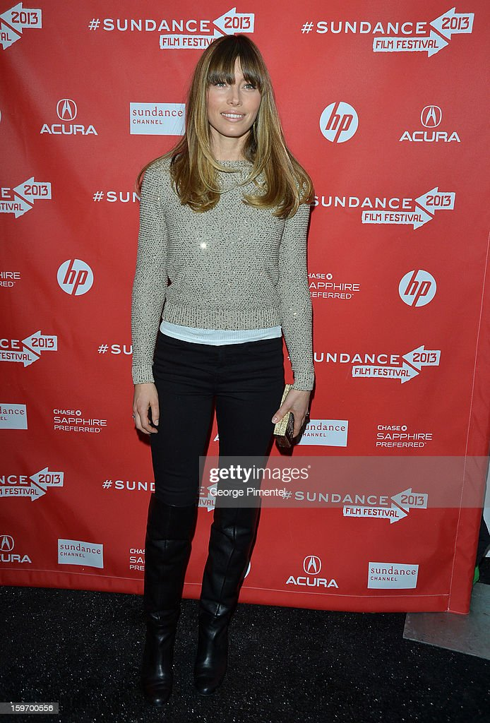 Actress Jessica Biel attends the 'Emanuel and The Truth About Fishes' Premiere during the 2013 Sundance Film Festival at Library Center Theater on January 18, 2013 in Park City, Utah.