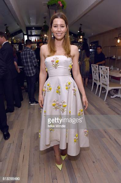 Actress Jessica Biel attends the Grand Opening Of Au Fudge Presented By Amazon Family on March 1 2016 in West Hollywood California