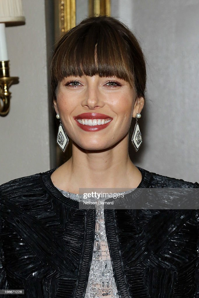 Actress <a gi-track='captionPersonalityLinkClicked' href=/galleries/search?phrase=Jessica+Biel&family=editorial&specificpeople=203011 ng-click='$event.stopPropagation()'>Jessica Biel</a> attends the 'Hitchcock' New York Premiere After Party at 21 Club on November 18, 2012 in New York City.
