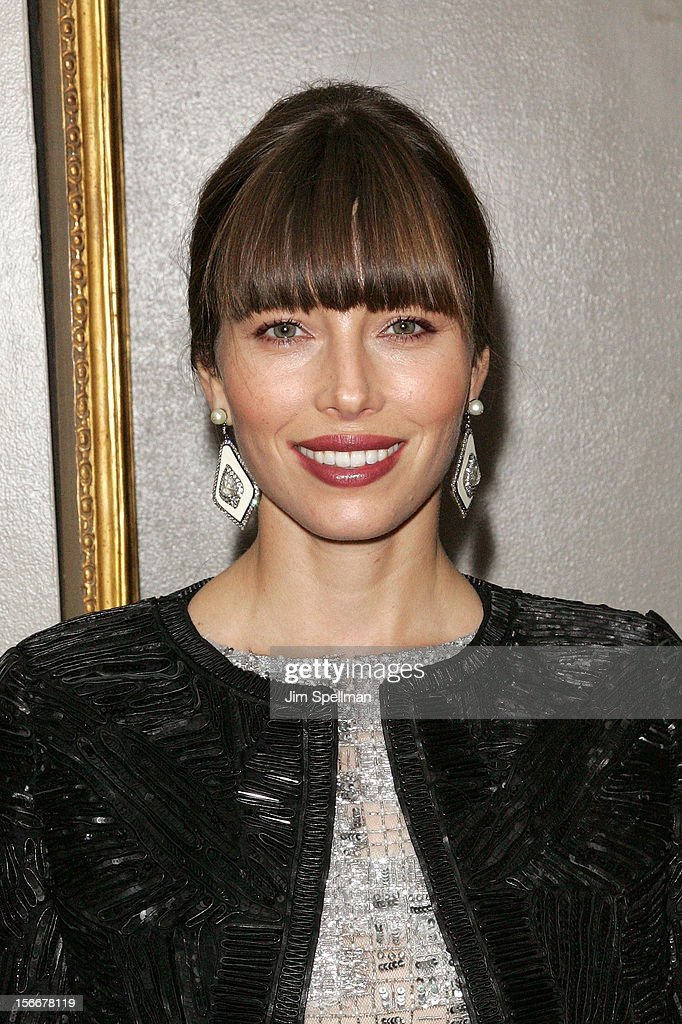 Actress <a gi-track='captionPersonalityLinkClicked' href=/galleries/search?phrase=Jessica+Biel&family=editorial&specificpeople=203011 ng-click='$event.stopPropagation()'>Jessica Biel</a> attends the 'Hitchcock' New York Premiere after party at on November 18, 2012 in New York City.