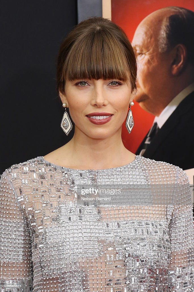 Actress Jessica Biel attends the 'Hitchcock' New York Premiere at Ziegfeld Theater on November 18, 2012 in New York City.