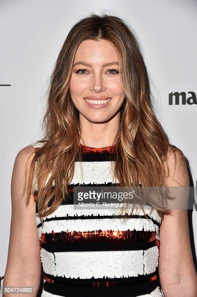 Actress Jessica Biel attends the inaugural Image Maker Awards hosted by Marie Claire at Chateau Marmont on January 12 2016 in Los Angeles California