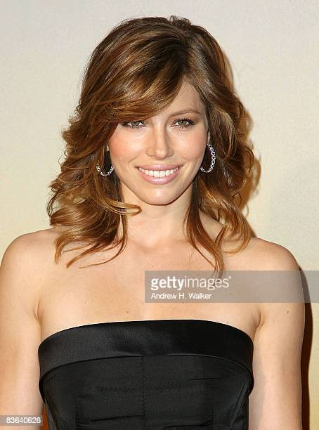 Actress Jessica Biel attends the MoMa film benefit gala at the Museum of Modern Art on November 10 2008 in New York City