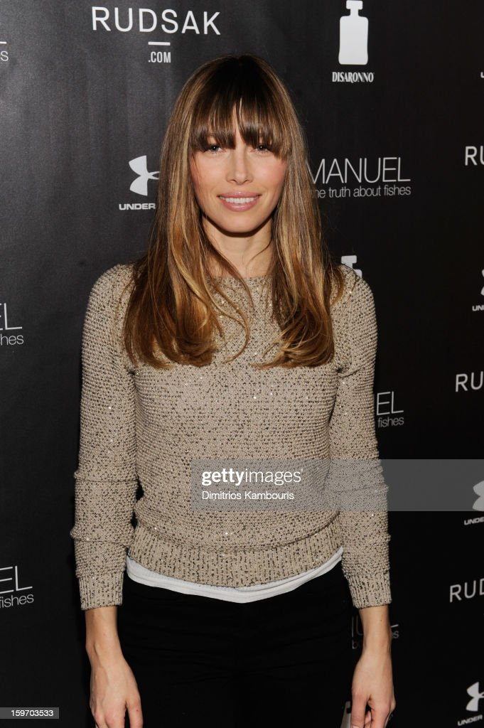 Actress <a gi-track='captionPersonalityLinkClicked' href=/galleries/search?phrase=Jessica+Biel&family=editorial&specificpeople=203011 ng-click='$event.stopPropagation()'>Jessica Biel</a> attends The Next Generation Filmmaker Dinner Series Presents 'Emanuel And The Truth About Fishes' on January 18, 2013 in Park City, Utah.
