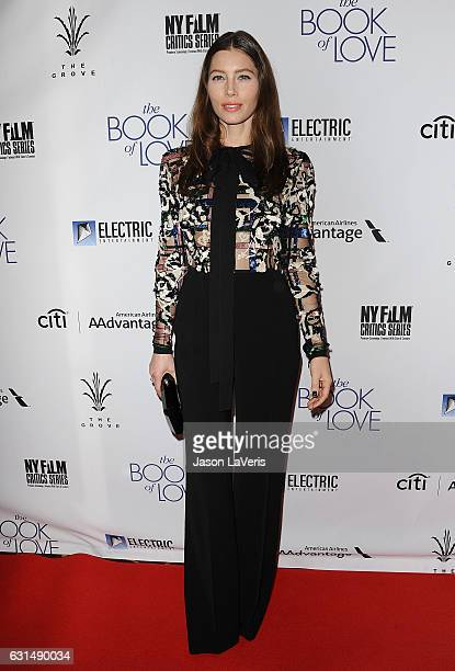Actress Jessica Biel attends the premiere of 'The Book of Love' at The Grove on January 10 2017 in Los Angeles California