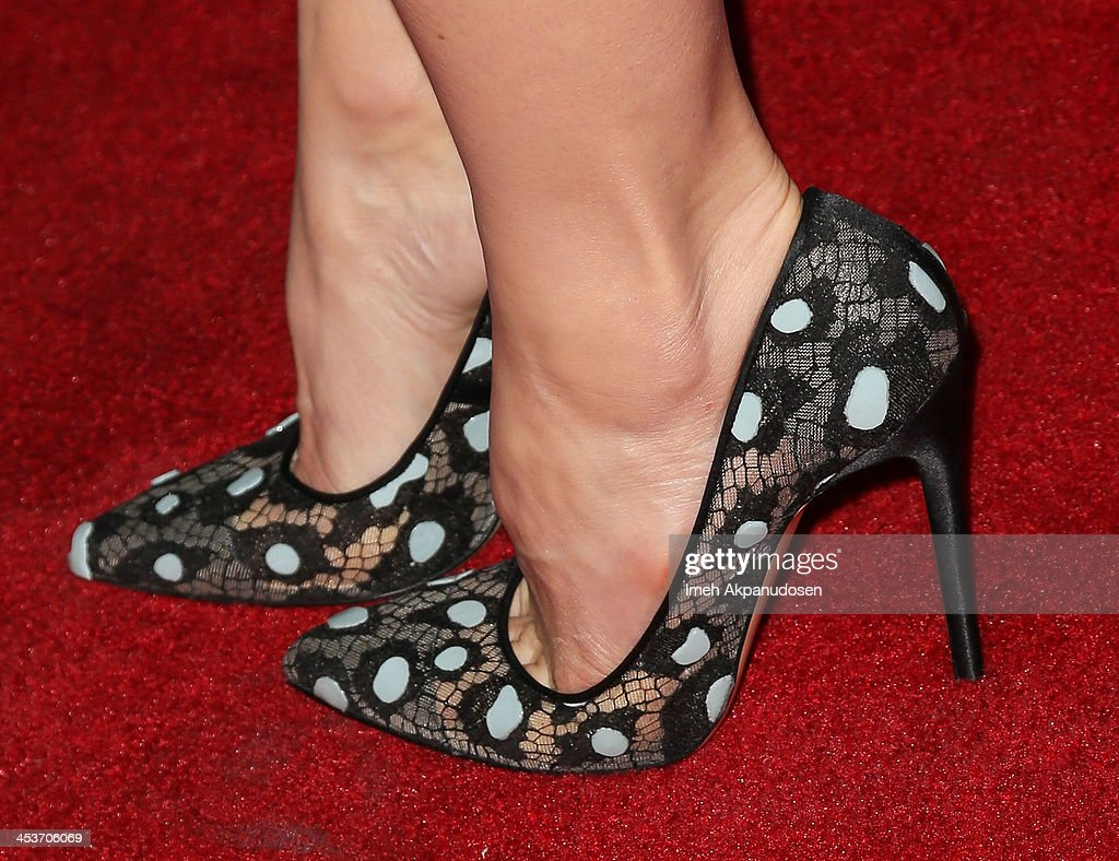 Actress Jessica Biel (shoe detail) attends the premiere of Tribeca Film and Well Go USA's 'The Truth About Emanuel' at ArcLight Hollywood on December 4, 2013 in Hollywood, California.