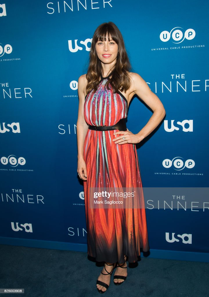 Actress Jessica Biel attends the 'The Sinner' Series Premiere Screening at the Crosby Street Hotel on July 31, 2017 in New York City.