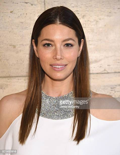 Actress Jessica Biel attends the Tiffany Co Blue Book Gala at The Cunard Building on April 15 2016 in New York City