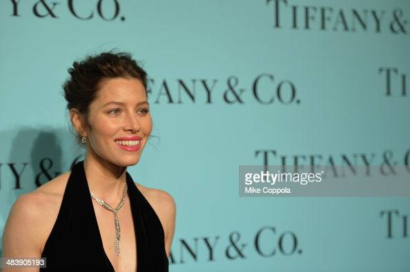 Actress Jessica Biel attends the Tiffany Debut of the 2014 Blue Book on April 10 2014 at the Guggenheim Museum in New York United States