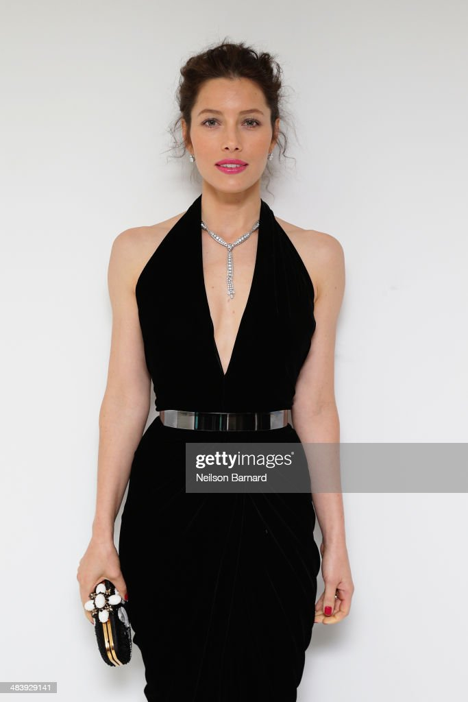 Actress <a gi-track='captionPersonalityLinkClicked' href=/galleries/search?phrase=Jessica+Biel&family=editorial&specificpeople=203011 ng-click='$event.stopPropagation()'>Jessica Biel</a> attends the Tiffany Debut of the 2014 Blue Book on April 10, 2014 at the Guggenheim Museum in New York, United States.