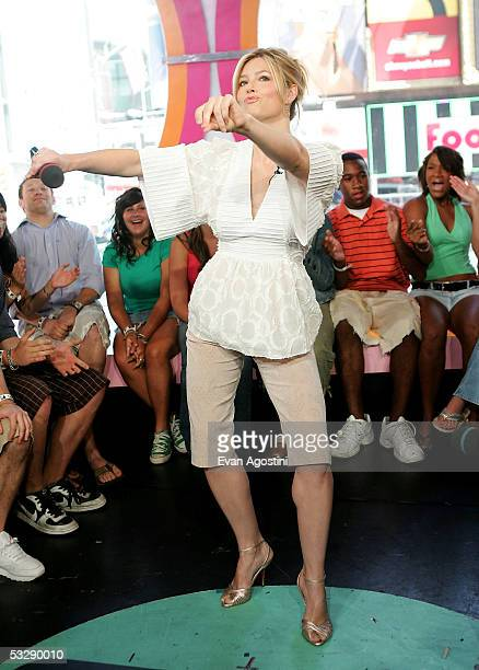Actress Jessica Biel during an appearance on MTV's Total Request Live July 26 2005 at MTV Studios in New York City