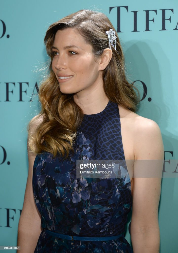 Actress Jessica Biel is wearing Diamonds from the Tiffany & Co. 2013 Blue Book Collection as she attends the Tiffany & Co. Blue Book Ball at Rockefeller Center on April 18, 2013 in New York City.