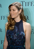 Actress Jessica Biel is wearing Diamonds from the Tiffany Co 2013 Blue Book Collection as she attends the Tiffany Co Blue Book Ball at Rockefeller...