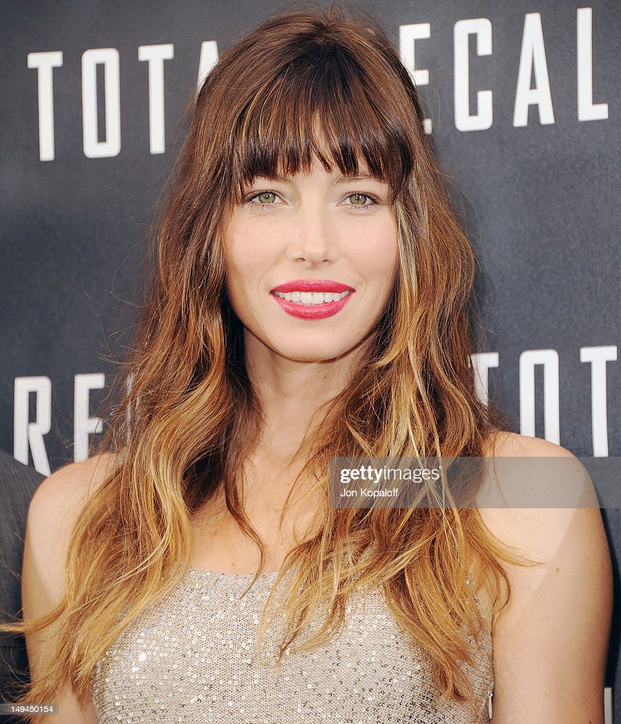 Actress Jessica Biel poses at the photo call for Columbia Pictures 'Total Recall' at the Four Seasons Hotel on July 28 2012 in Los Angeles California