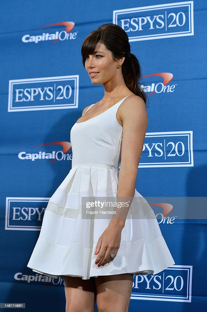 Actress Jessica Biel poses in the press room during the 2012 ESPY Awards at Nokia Theatre L.A. Live on July 11, 2012 in Los Angeles, California.