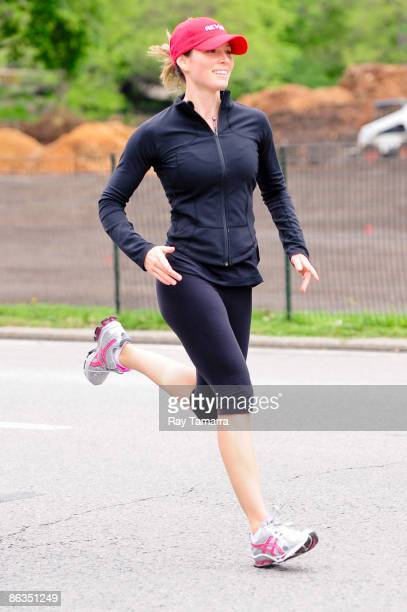 Actress Jessica Biel runs in Central Park on May 2 2009 in New York City