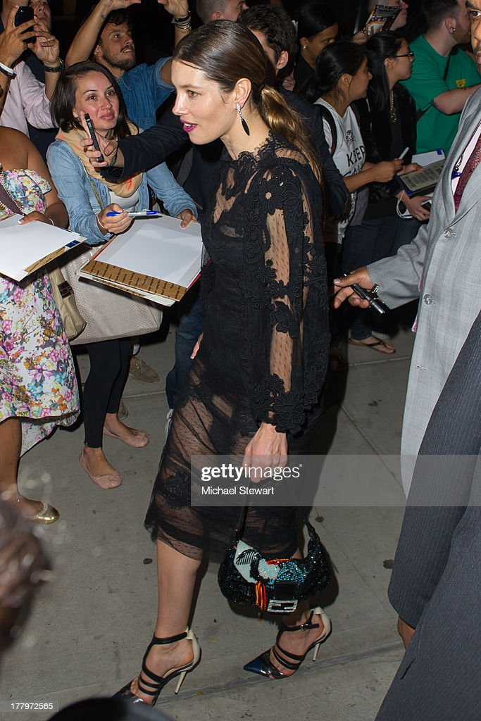 Actress Jessica Biel seen on the streets of Manhattan on August 25, 2013 in New York City.