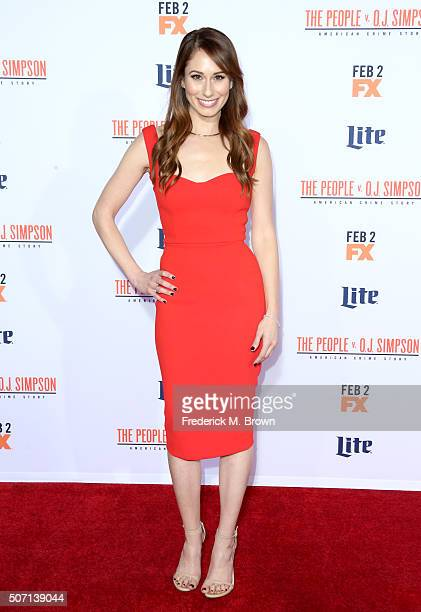 Actress Jessica Blair Herman attends the premiere of FX's 'American Crime Story The People V OJ Simpson' at Westwood Village Theatre on January 27...