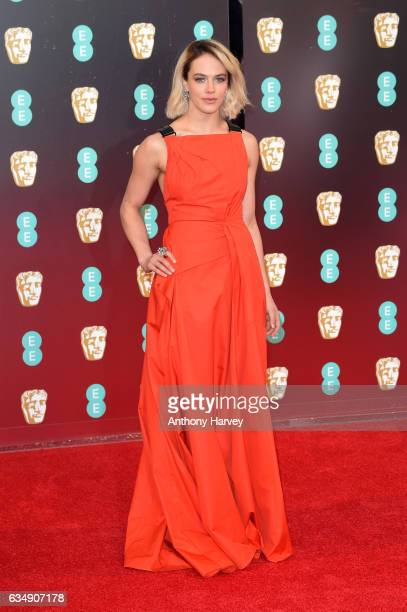 Actress Jessica Brown Findlay attends the 70th EE British Academy Film Awards at Royal Albert Hall on February 12 2017 in London England