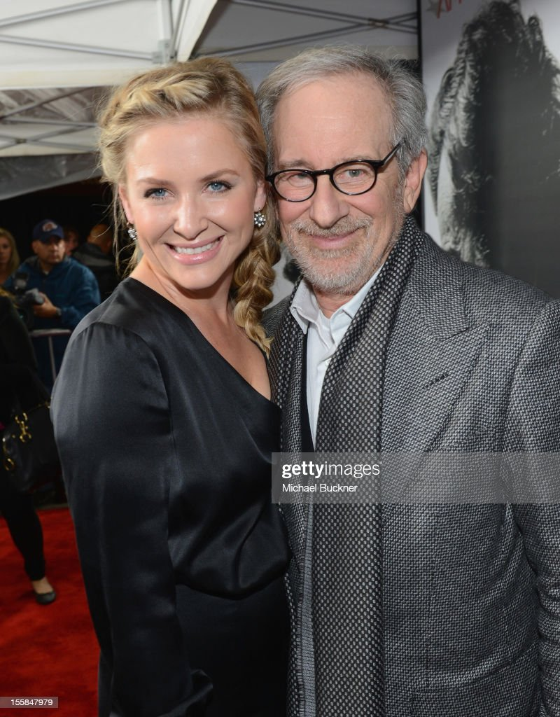 Actress <a gi-track='captionPersonalityLinkClicked' href=/galleries/search?phrase=Jessica+Capshaw&family=editorial&specificpeople=207034 ng-click='$event.stopPropagation()'>Jessica Capshaw</a> and director <a gi-track='captionPersonalityLinkClicked' href=/galleries/search?phrase=Steven+Spielberg&family=editorial&specificpeople=202022 ng-click='$event.stopPropagation()'>Steven Spielberg</a> arrive at the premiere of 'Lincoln' during the 2012 AFI Fest presented by Audi at Grauman's Chinese Theatre on November 8, 2012 in Hollywood, California.
