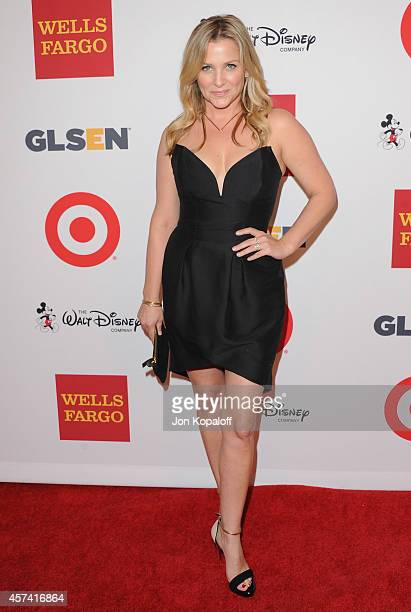 Actress Jessica Capshaw arrives at the 10th Annual GLSEN Respect Awards at Regent Beverly Wilshire Hotel on October 17 2014 in Beverly Hills...