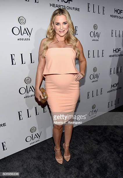 Actress Jessica Capshaw attends ELLE's 6th Annual Women in Television Dinner Presented by Hearts on Fire Diamonds and Olay at Sunset Tower on January...