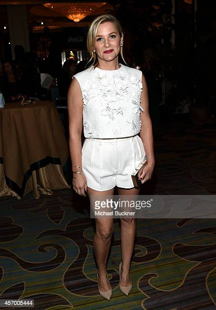 Actress Jessica Capshaw attends the 2014 Variety Power of Women presented by Lifetime at Beverly Wilshire Four Seasons Hotel on October 10 2014 in...
