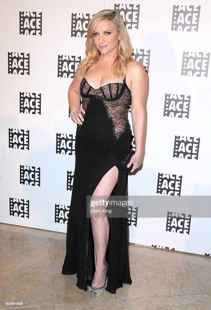 Actress <a gi-track='captionPersonalityLinkClicked' href=/galleries/search?phrase=Jessica+Capshaw&family=editorial&specificpeople=207034 ng-click='$event.stopPropagation()'>Jessica Capshaw</a> attends the 63rd Annual ACE Eddie Awards at The Beverly Hilton Hotel on February 16, 2013 in Beverly Hills, California.