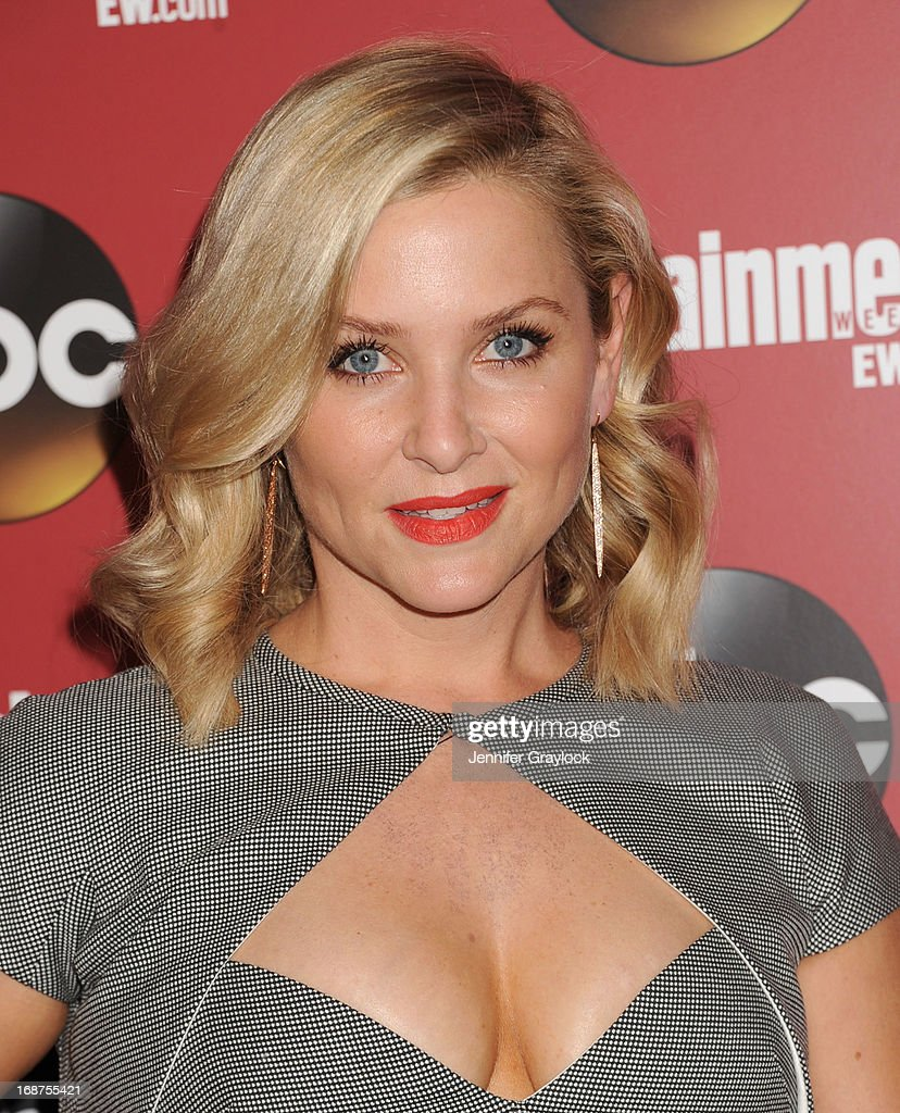 Actress <a gi-track='captionPersonalityLinkClicked' href=/galleries/search?phrase=Jessica+Capshaw&family=editorial&specificpeople=207034 ng-click='$event.stopPropagation()'>Jessica Capshaw</a> attends the Entertainment Weekly & ABC 2013 New York Upfront Party at The General on May 14, 2013 in New York City.
