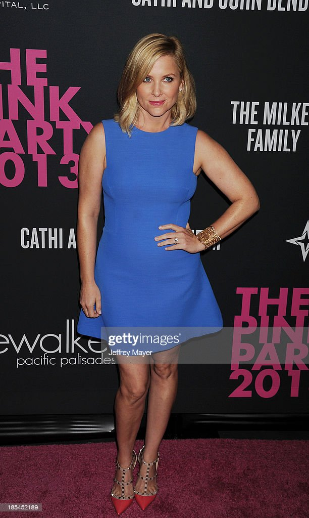 Actress Jessica Capshaw attends The Pink Party 2013 at Barker Hangar on October 19, 2013 in Santa Monica, California.