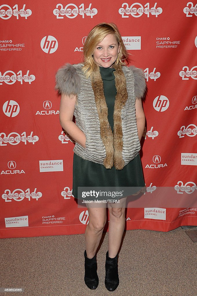 Actress <a gi-track='captionPersonalityLinkClicked' href=/galleries/search?phrase=Jessica+Capshaw&family=editorial&specificpeople=207034 ng-click='$event.stopPropagation()'>Jessica Capshaw</a> attends the premiere of 'Young Ones' at the Eccles Center Theatre during the 2014 Sundance Film Festival on January 18, 2014 in Park City, Utah.
