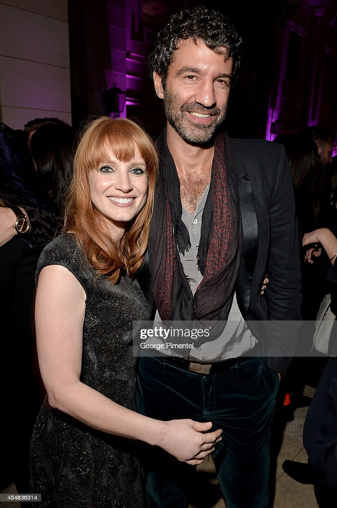 Actress <a gi-track='captionPersonalityLinkClicked' href=/galleries/search?phrase=Jessica+Chastain&family=editorial&specificpeople=653192 ng-click='$event.stopPropagation()'>Jessica Chastain</a> (L) and Jorn Weisbrodt attend HFPA & InStyle's 2014 TIFF Celebration at the Windsor Arms Hotel on September 5, 2014 in Toronto, Canada.