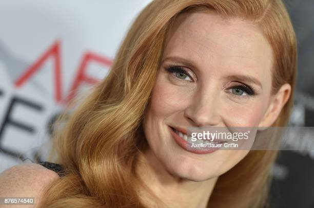 Actress Jessica Chastain arrives at AFI FEST 2017 Closing Night Gala Screening of 'Molly's Game' at TCL Chinese Theatre on November 16 2017 in...