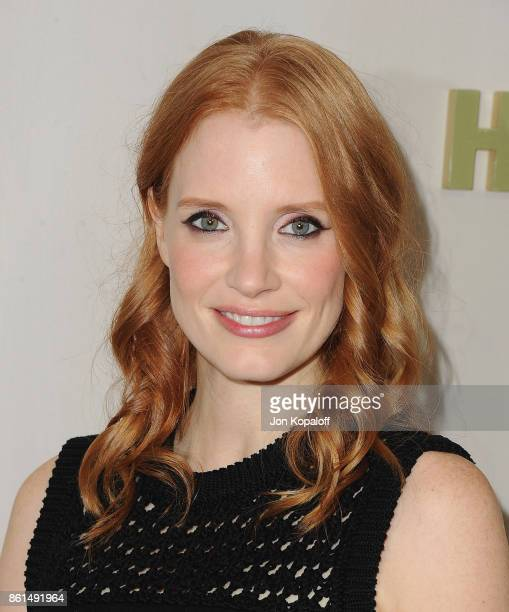 Actress Jessica Chastain arrives at Bottega Veneta Hosts Hammer Museum Gala In The Garden on October 14 2017 in Westwood California