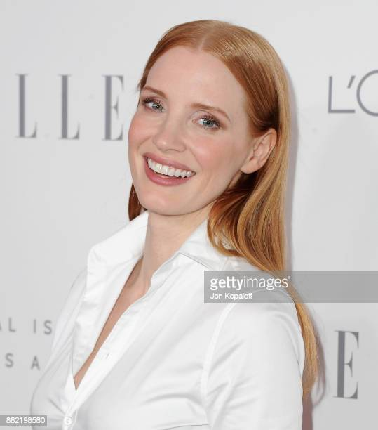 Actress Jessica Chastain arrives at ELLE's 24th Annual Women in Hollywood Celebration at Four Seasons Hotel Los Angeles at Beverly Hills on October...