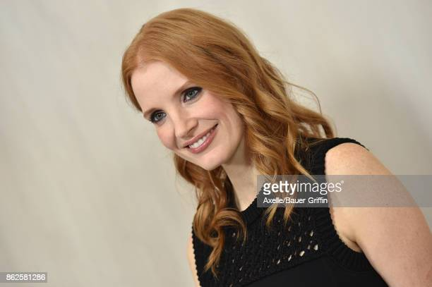 Actress Jessica Chastain arrives at Hammer Museum Gala in the Garden on October 14 2017 in Westwood California