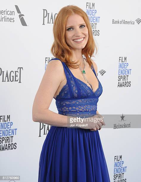 Actress Jessica Chastain arrives at the 2016 Film Independent Spirit Awards on February 27 2016 in Los Angeles California