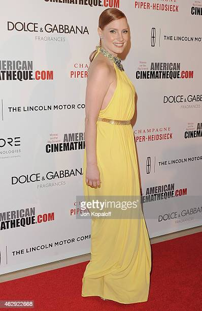 Actress Jessica Chastain arrives at the 28th American Cinematheque Award Honoring Matthew McConaughey at The Beverly Hilton Hotel on October 21 2014...