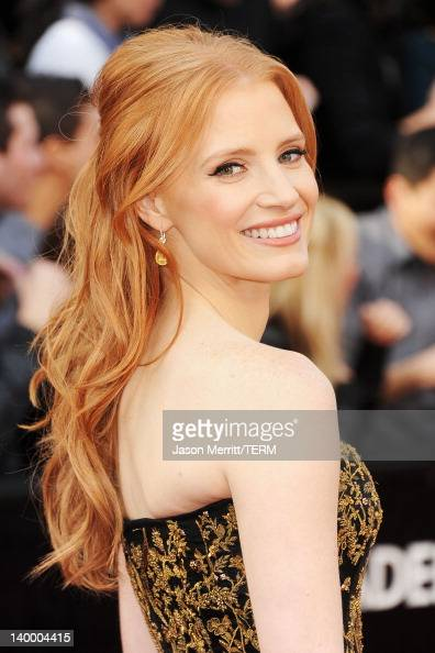 Actress Jessica Chastain arrives at the 84th Annual Academy Awards held at the Hollywood Highland Center on February 26 2012 in Hollywood California