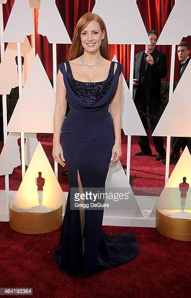 Actress Jessica Chastain arrives at the 87th Annual Academy Awards at Hollywood Highland Center on February 22 2015 in Hollywood California