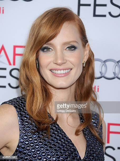 Actress Jessica Chastain arrives at the AFI FEST 2014 Presented By Audi Opening Night Gala Screening of 'A Most Violent Year' at Dolby Theatre on...
