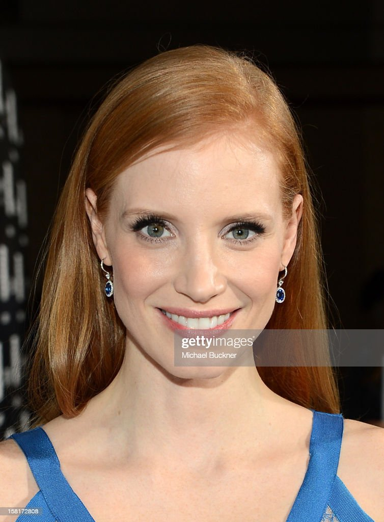 Actress <a gi-track='captionPersonalityLinkClicked' href=/galleries/search?phrase=Jessica+Chastain&family=editorial&specificpeople=653192 ng-click='$event.stopPropagation()'>Jessica Chastain</a> arrives at the Los Angeles premiere of Columbia Pictures' 'Zero Dark Thirty' at Dolby Theatre on December 10, 2012 in Hollywood, California.