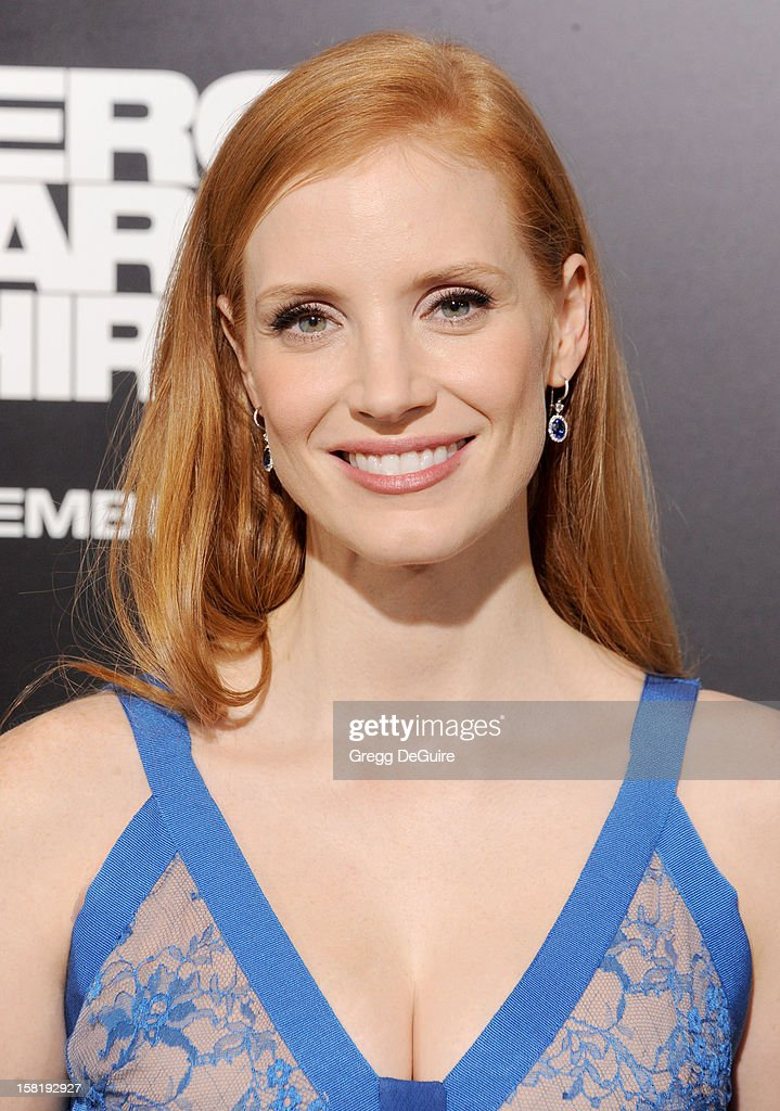 Actress Jessica Chastain arrives at the Los Angeles premiere of 'Zero Dark Thirty' at the Dolby Theatre on December 10, 2012 in Hollywood, California.